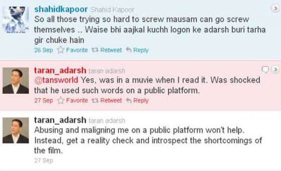When Shahid Kapoor Slammed A Film Critic For Criticising Mausam