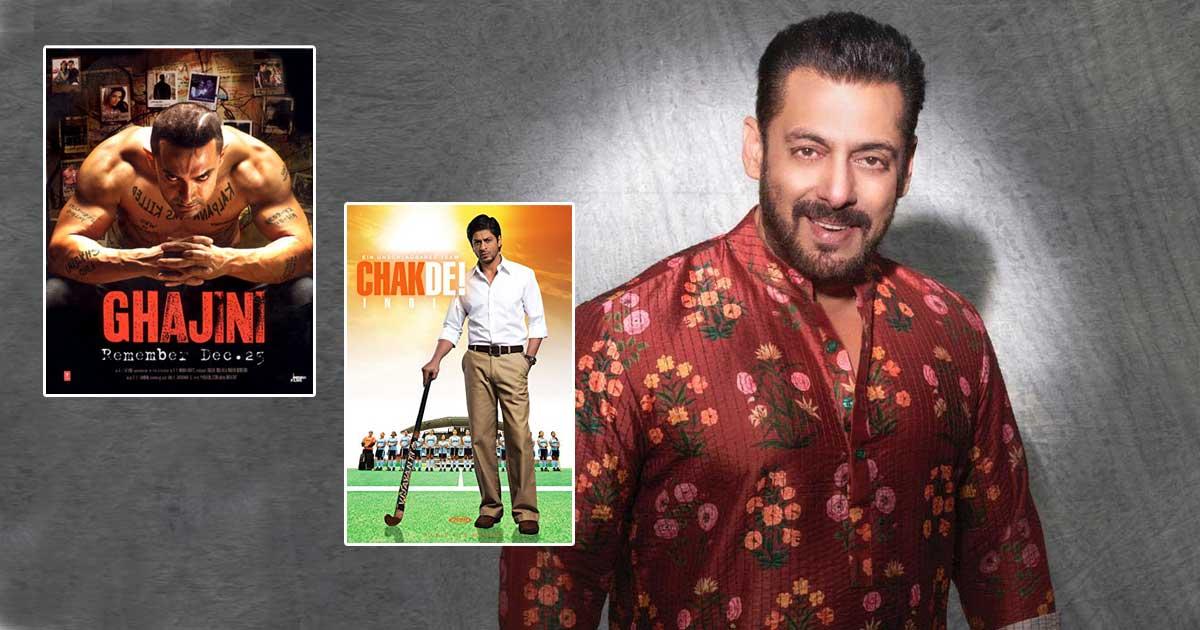 From Chak De! India To Ghajini & Kal Ho Na Ho; 6 Bollywood Hit Films Salman Khan Said No To Starring In