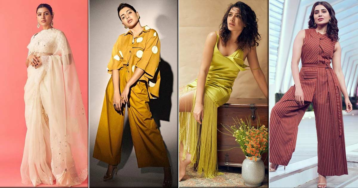 From Sarees To Dresses, Pantsuits & More – The Many Time Samantha Akkineni Made The Fashion Police Proud