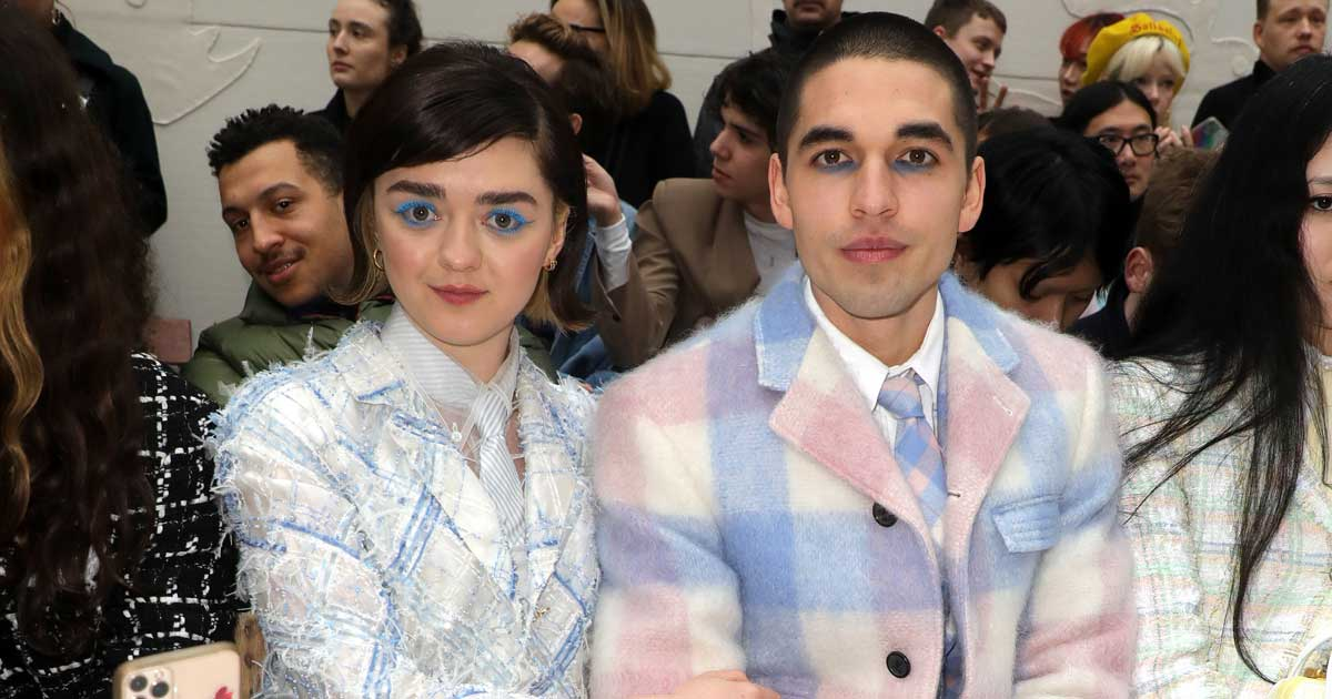 Maisie Williams & Reuben Selby At Thom Browne Show During The Paris Fashion Week