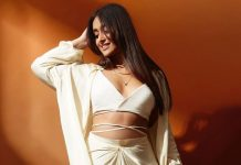 Ileana D'Cruz flaunts 'golden glow' in white cut-out number