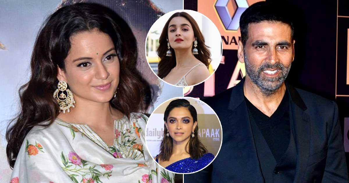 "Kangana Ranaut Claims Akshay Kumar Secretly Called Her: ""Unlike Alia & Deepika Films, They Can't Openly Praise…"""
