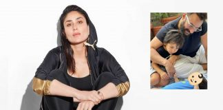 Kareena posts pic of newborn son, hides face with emoji
