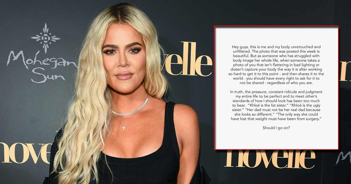 """Khloe Kardashian Is Clapping Back At All The Trolls Over Deleted 'Unedited' Picture; Says She's """"Someone Who Has Struggled With Body Image All Her Life,"""" Read On"""