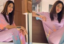 Mahira Sharma looks like a dream in lilac tee and pants, take a look at the pictures inside