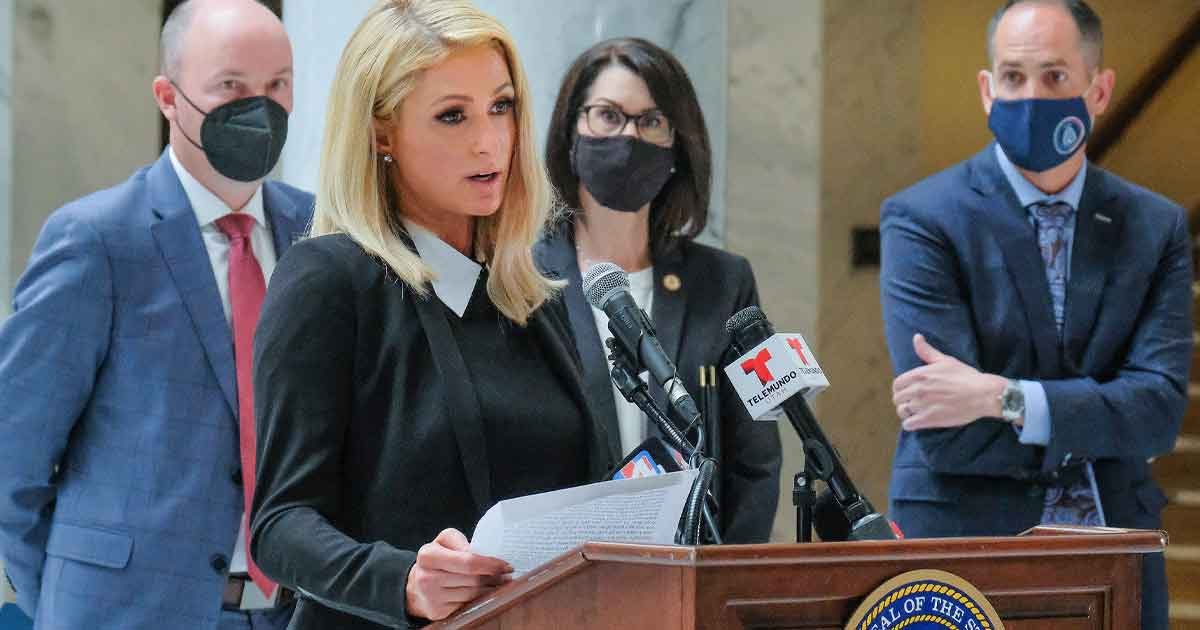 Paris Hilton Returns To Utah For Signing The Ceremonial Bill Highlighting A Law That Regulates Treatment Centres For Troubled Teens