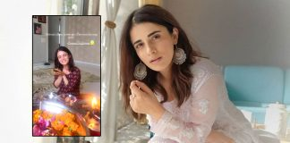 Radhika Madan celebrates Ashtmi at home in Delhi after years