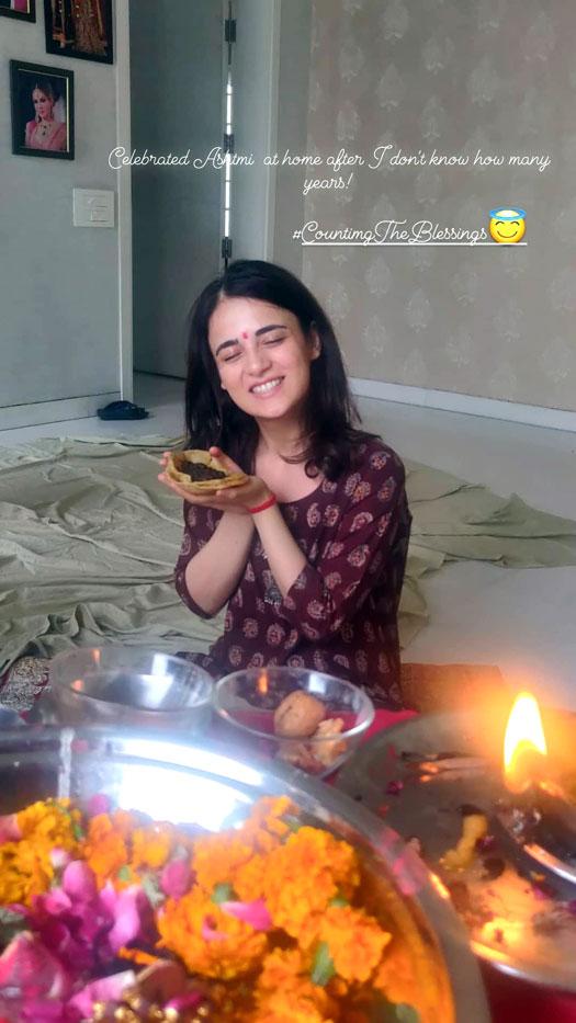 Radhika Madan celebrates Ashtmi at home in Delhi after years