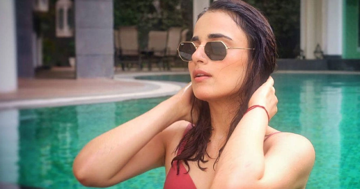 Radhika Madan Oozes Oomph In A Red Beachwear But She's 'Not In Maldives'