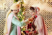 Sugandha Mishra and Sanket Bhosale share wedding picture