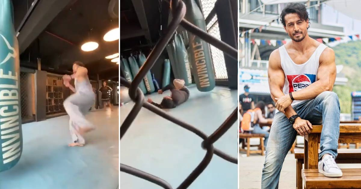 Tiger Shroff Excels In Double Flying Kick While His Trainer Fails Miserably - Watch