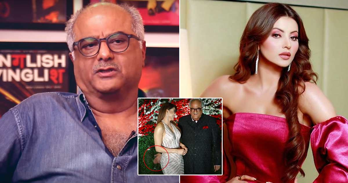 When Boney Kapoor Was Trolled For Allegedly Patting Urvashi Rautela's Derriere Becoming A Huge Deal Of Controversy