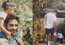 Angad Bedi shares happy photos with daughter after testing negative