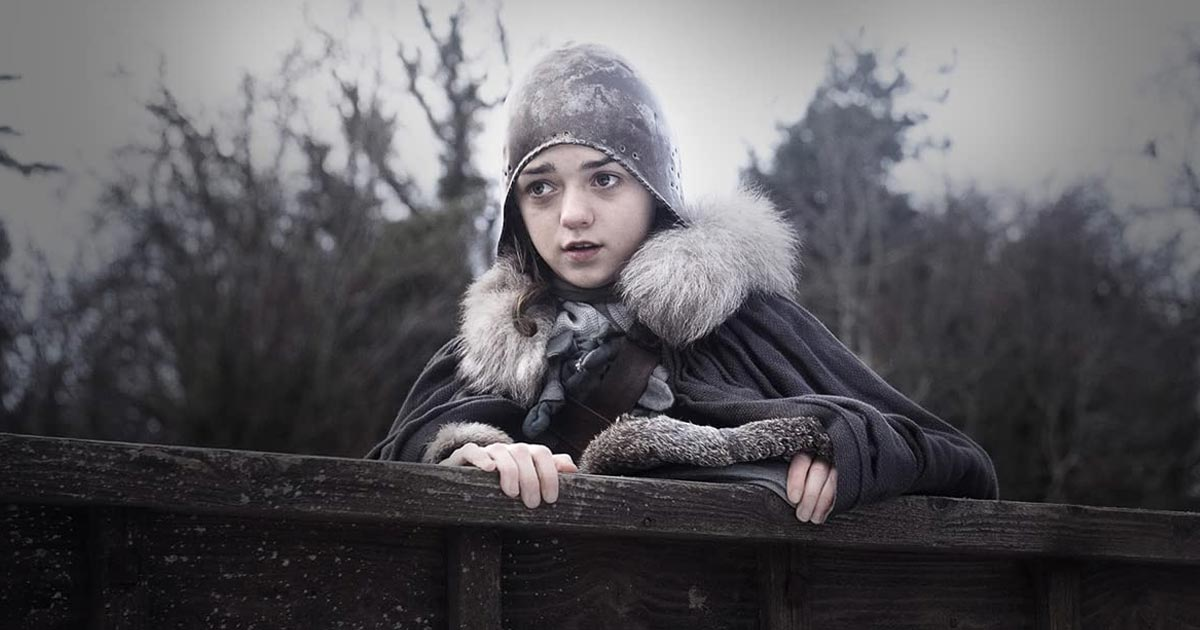 Arya Stark In A Still From Game Of Thrones