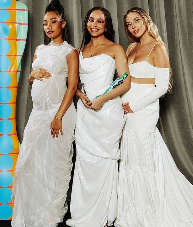 The Trio Looked Angelic In White Ensembles