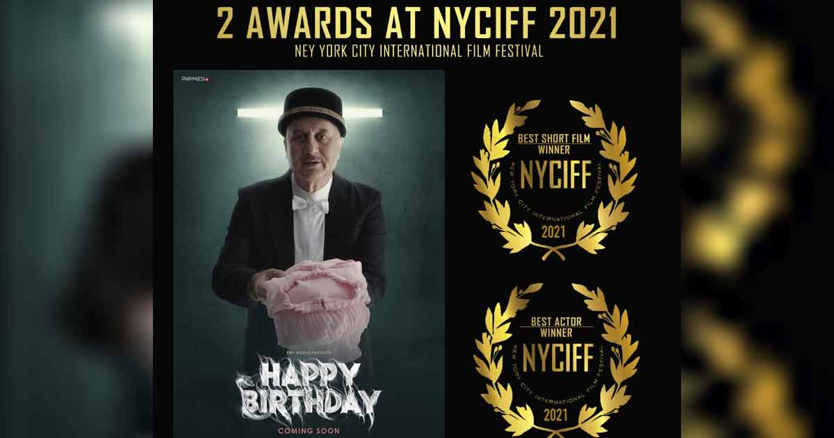 Global Star Anupam Kher bags Best Actor Award at New York City International Film Festival for FNP Media's Short film Happy Birthday