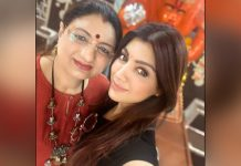 """""""I wish I too could read stars, read faces and could predict like my mother as she's an astrologer, would make better choices but no worries I have my mother to do that for me"""", says Akanksha Puri on mother's day"""