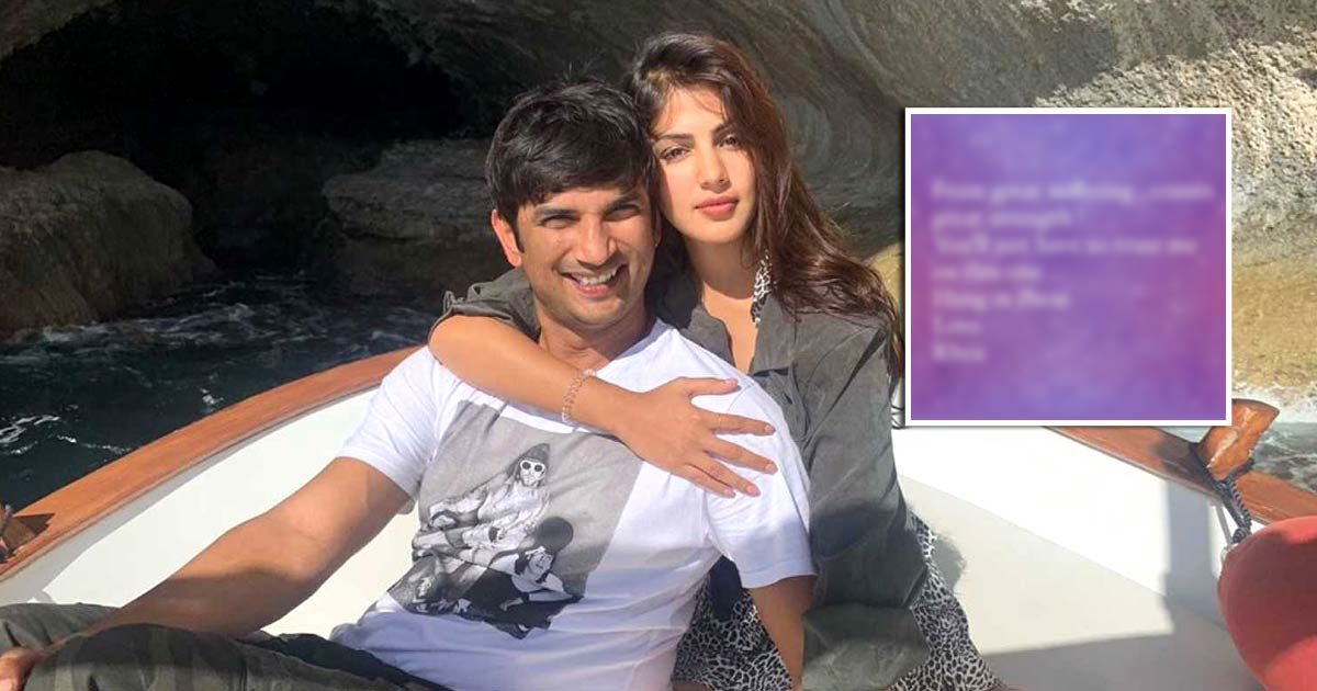 Is Rhea Chakraborty Hinting At Sushant Singh Rajput's Delayed Justice Through Her Latest Post?