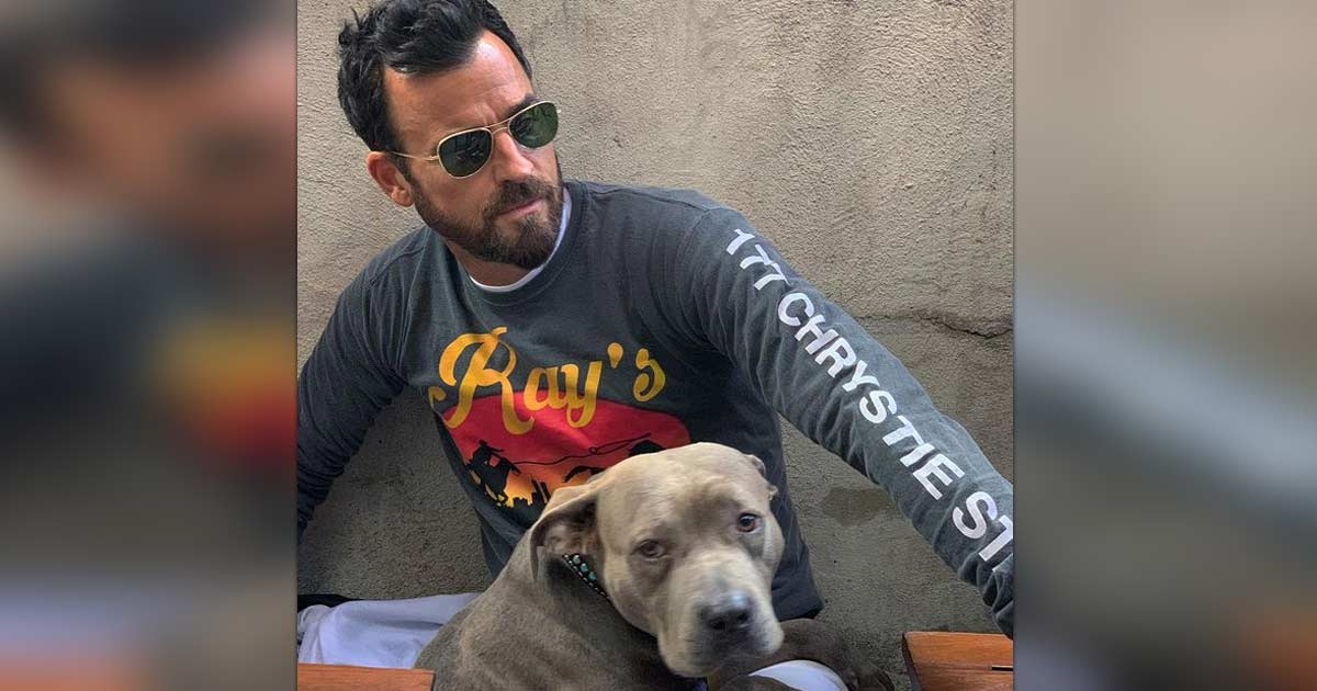 """Justin Theroux's Favourite Thing Is Waking Up Next To His Dog: """"I Mean ……"""