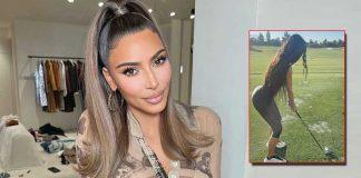 Kim Kardashian is in the mood for golf
