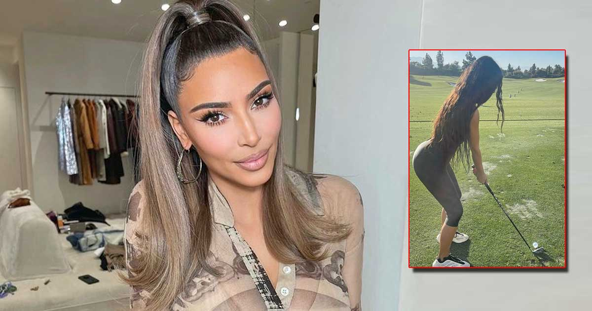 Kim Kardashian is in the mood for golf