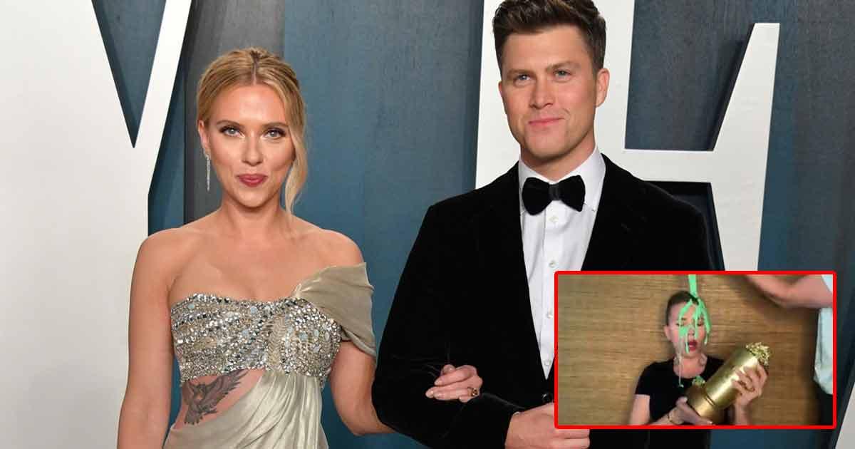 Scarlett Johansson's Husband Colin Jost Pours Slime On Her Head Amid MTV Movie & TV Award Winning Speech