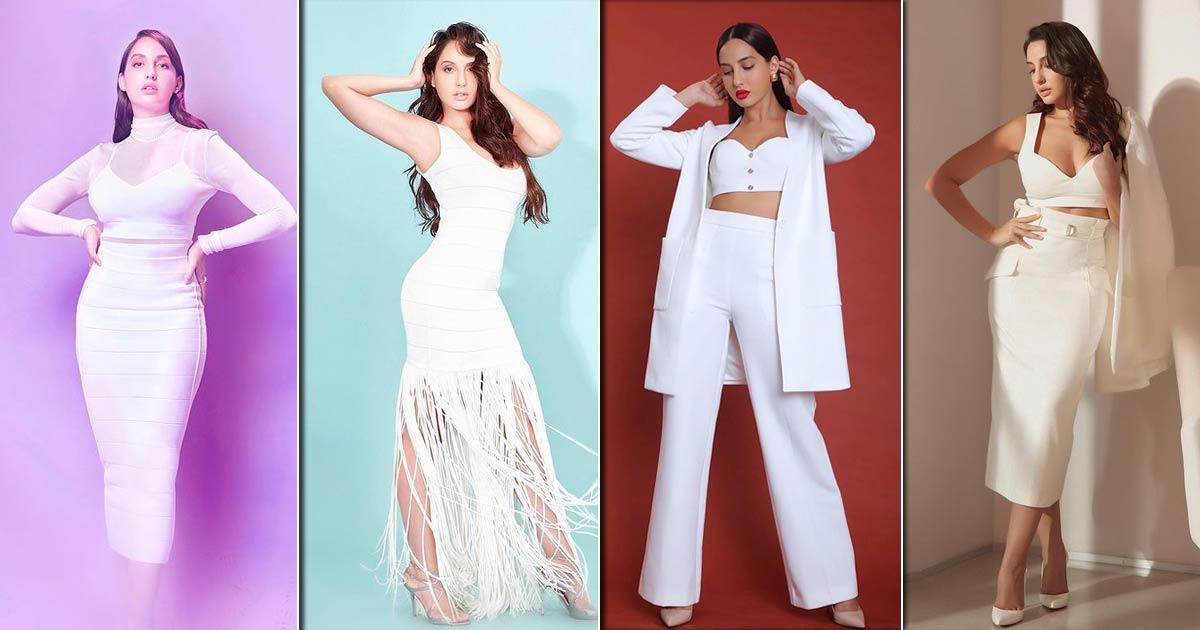 Nora Fatehi Looks Like A Goddess In White