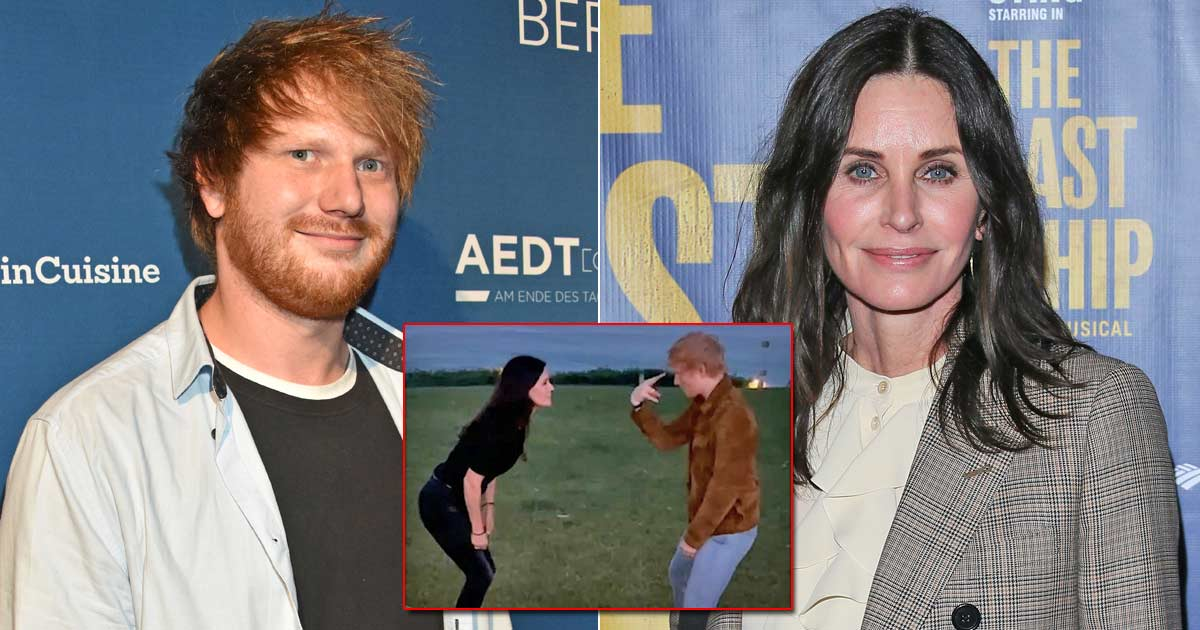 Real Life Friends Courteney Cox & Ed Sheeran Recreate 'The Routine' From Friends & Its Absolutely Hilarious