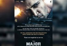 Release of Major based on Sandeep Unnikrishnan's life postponed