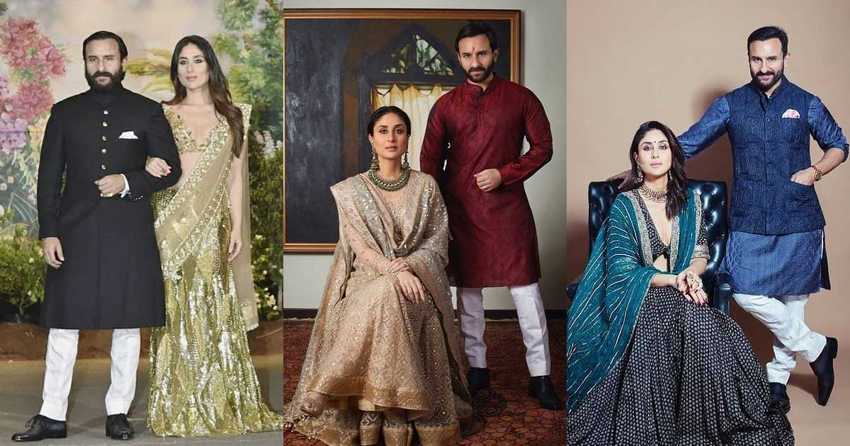 Saif Ali Khan & Kareena Kapoor Khan Are Epitome Of Royalty In These Pictures