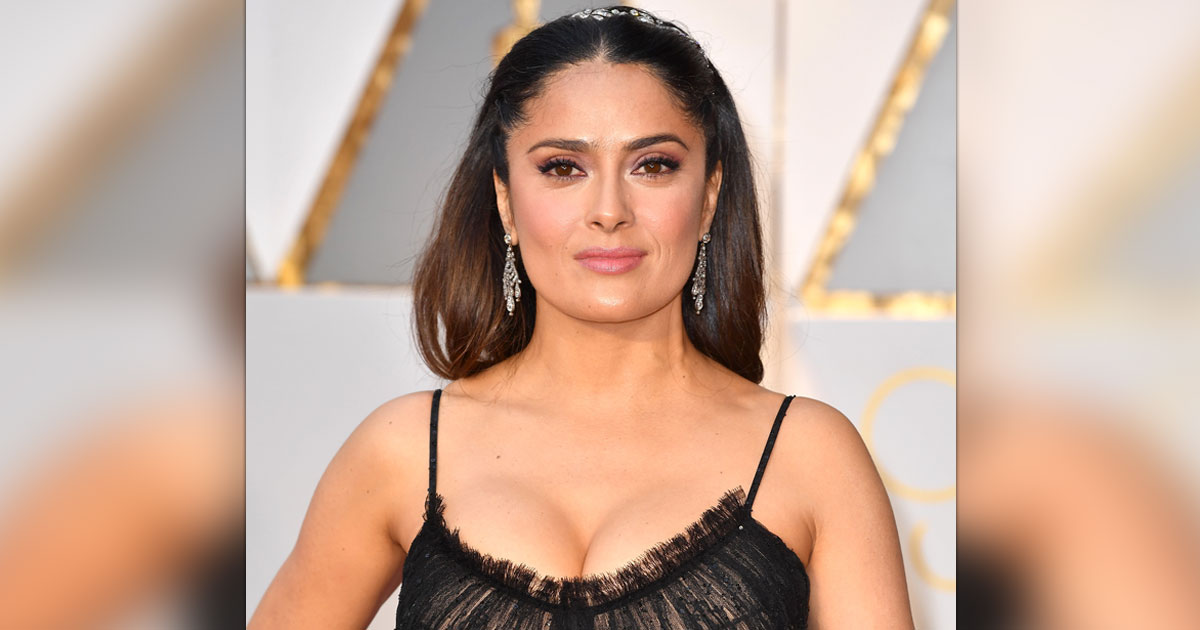 Salma Hayek Redefined Beauty In This Hot Purple Gown With A Plunging Neckline