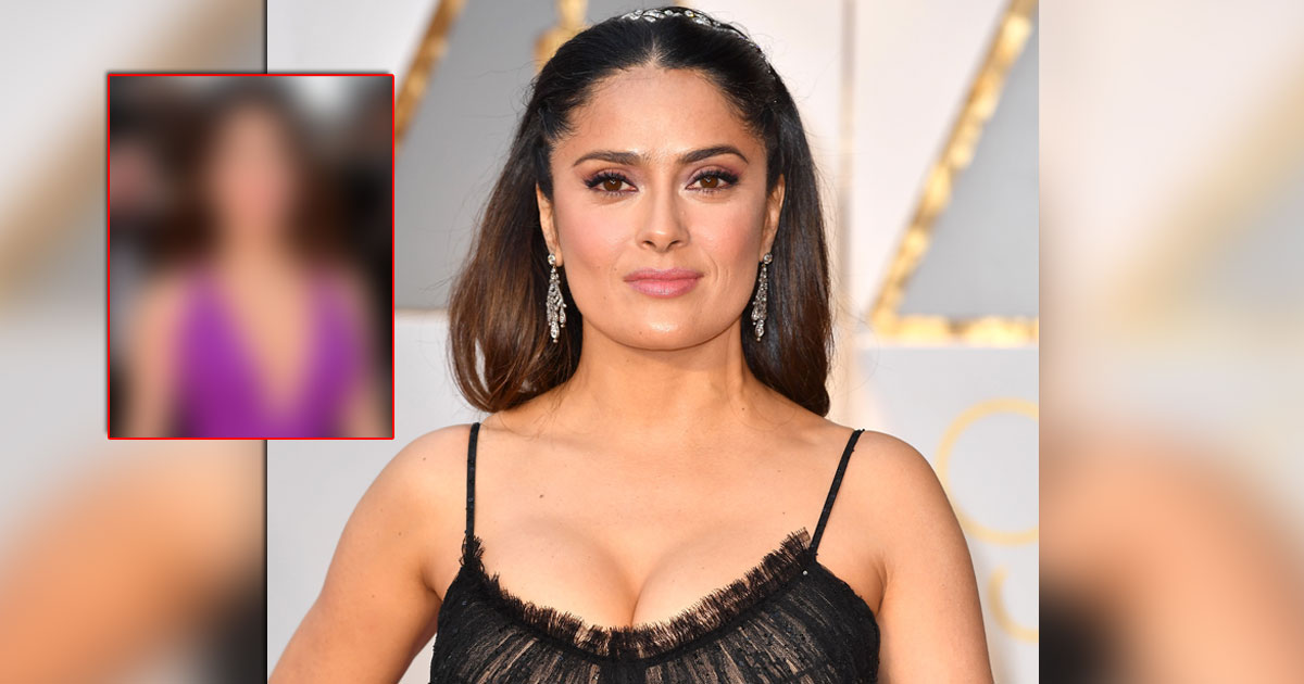 salma hayek redefines beauty in this hot purple gown with a plunging neckline 002