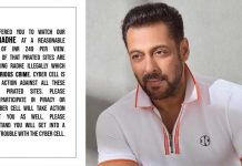 Salman warns of consequences after 'Radhe' streamed on pirated sites