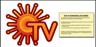 Sun TV donates 30 crore for Covid-affected