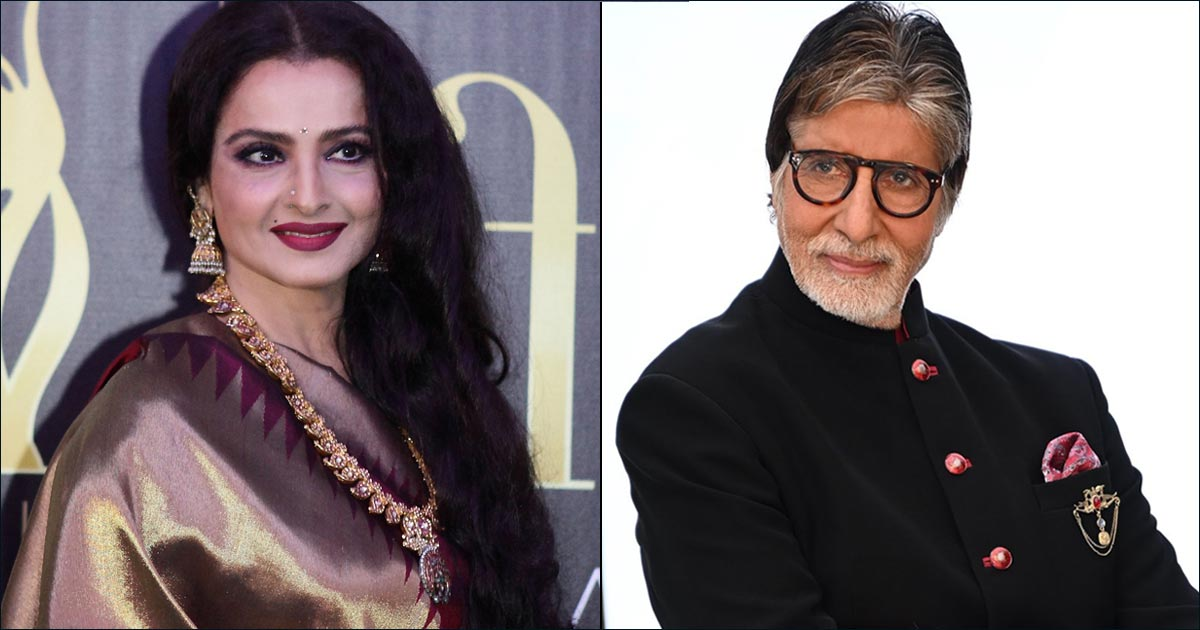 Throwback To When Rekha Posed In front Of Amitabh Bachchan's Photo