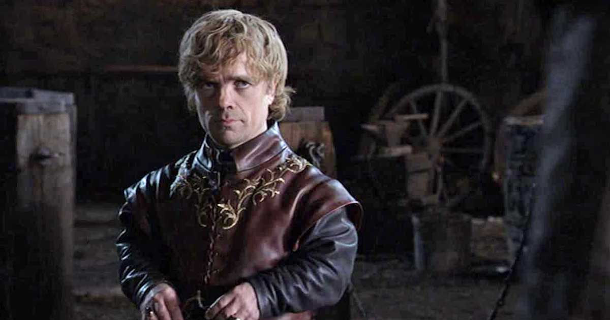 Tyrion Lannister In A Still From GoT