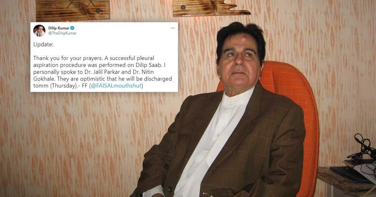 Dilip Kumar likely to be discharged on Thursday