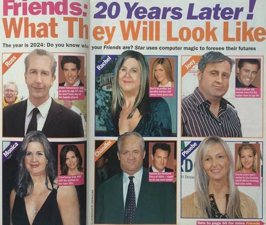 Friends: This 2004 Magazine Was Way Off The Mark When Prediction How The Mian Cast Would Look 20 Years Down The Line