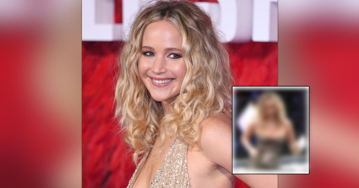 Jennifer Lawrence With A Champagne Glass, Jumping Chairs In A Sensual Glittery Dress Defines 'Monday Mood' For Many Of Us!