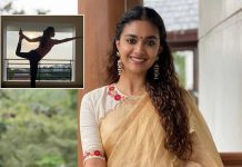 Keerthy Suresh roots for yoga therapy to keep tension away