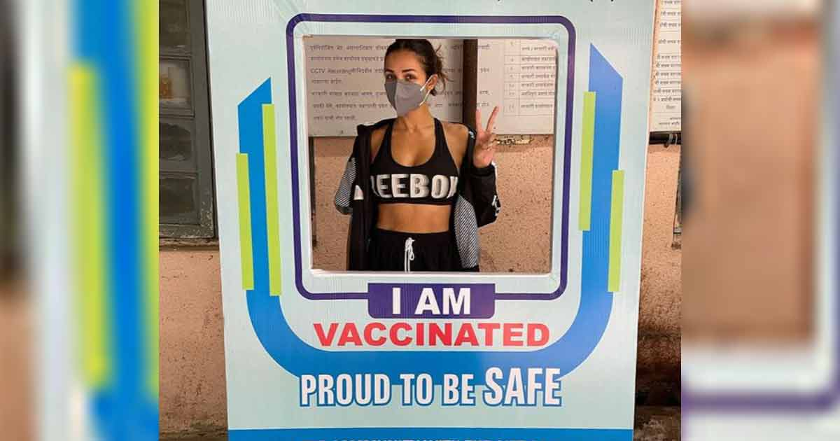 Malaika Arora Manages To Look Hot Even While Getting Vaccinated, Read On