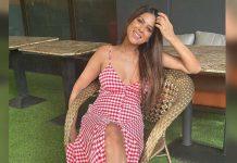 Nia Sharma shares her candy cane look