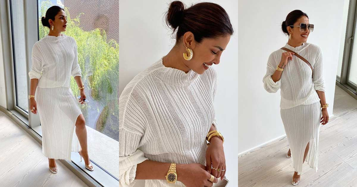 Priyanka Chopra goes all-white to celebrate Pride Month