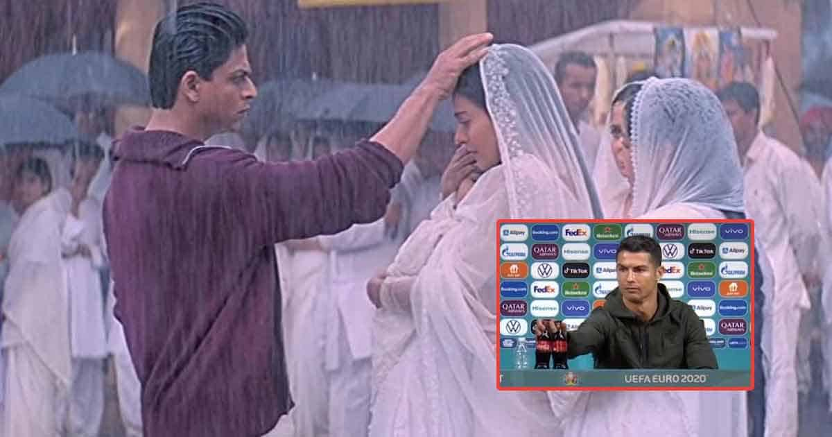 Shah Rukh Khan Blessing Kajol In Kabhi Khushi Kabhie Gham Is A Meme Now & We're Glad Ronaldo's Coca Cola Row Is A Part Of It - Deets Inside