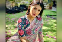 Shruti Haasan switches from sweatpants to saree for Insta post
