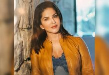 Sunny Leone caught 'relaxing on the job' on 'Anamika' set!