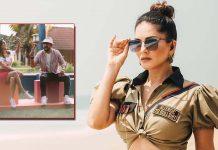 Sunny Leone plays 'whack a mole' with Rannvijay