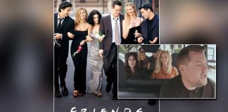 The Six Main Actors Of Friends Sing The Show's Theme Song While Carpooling With James Corden