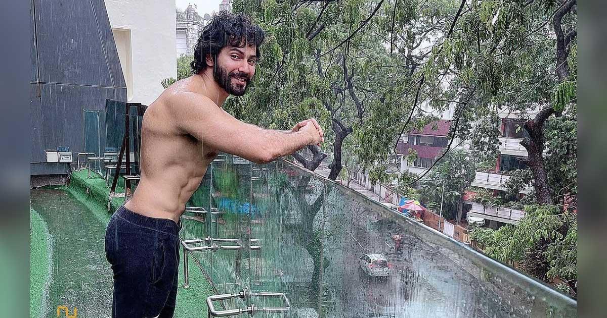 Varun Dhawan Flaunts Chiselled Physique As He Enjoys Mumbai Rain