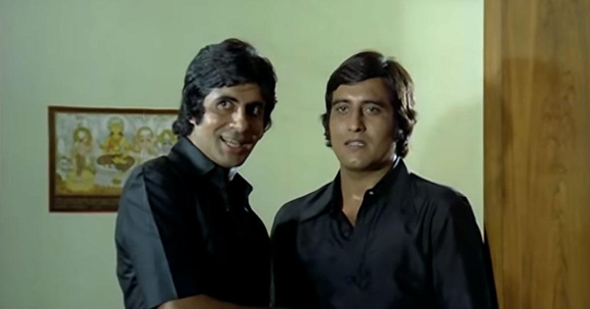 When Amitabh Bachchan Threw A Glass At Vinod Khanna Leaving A Permanent Mark On His Chin